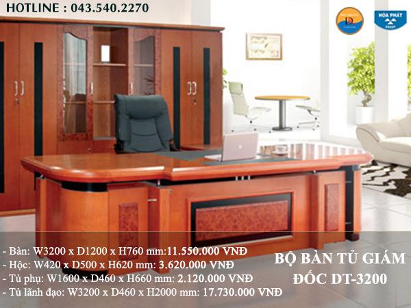 Bộ bàn tủ giám đốc DT-3200