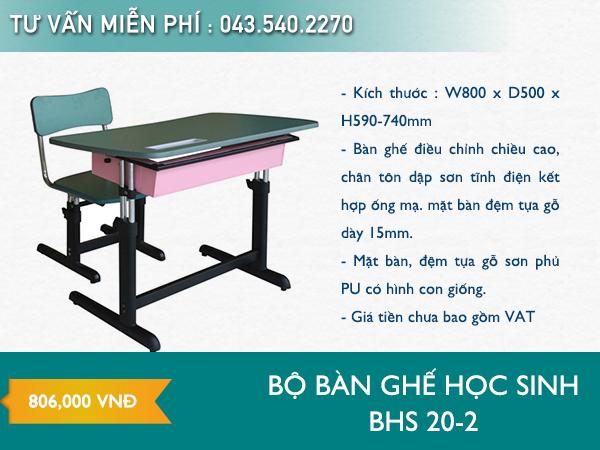 Bàn ghế học sinh BHS 20-2