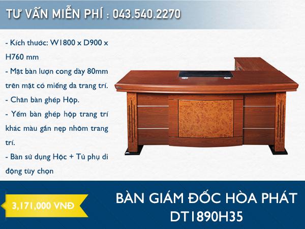 Bàn giám đốc Hòa Phát DT1890H35