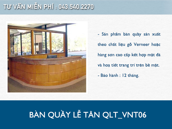 Bàn quầy lễ tân QLT_VNT06