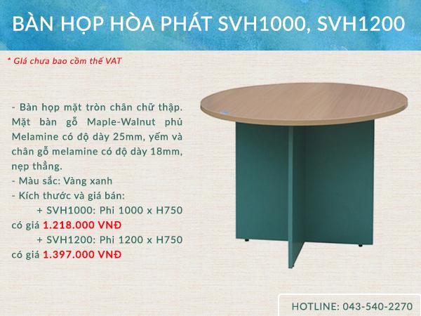 Mẫu bàn SVH1000, SVH1200