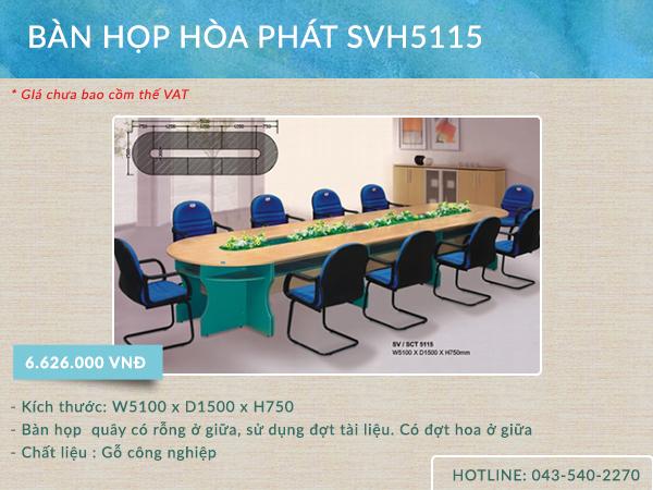 Mẫu bàn SVH 5115