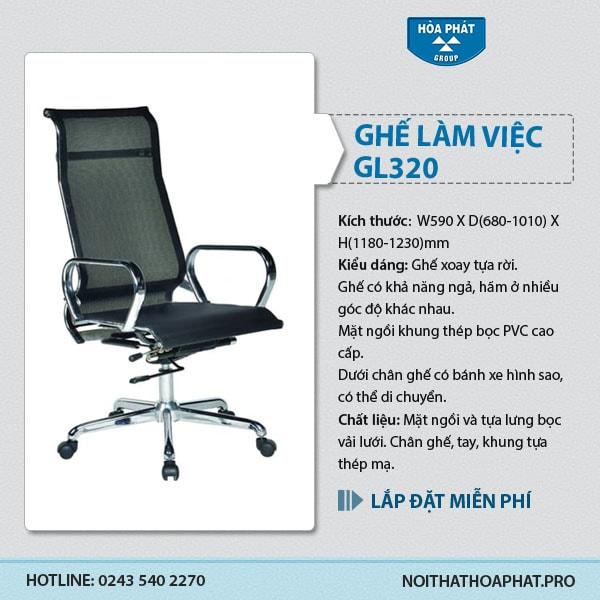 Ghế lưới cao cấp Hòa Phát GL320