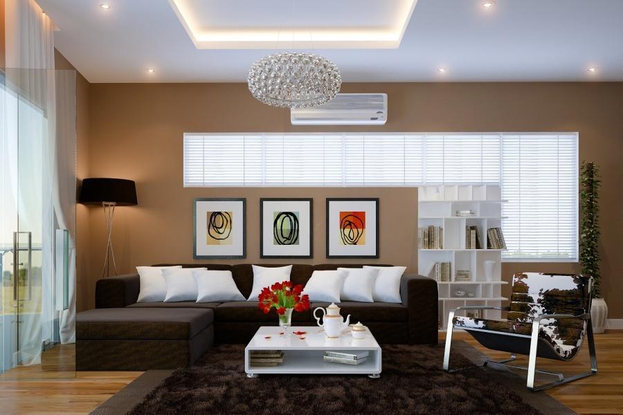 Hai phong cách phối màu phòng khách đối lập