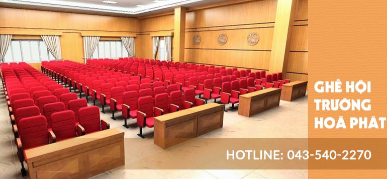 Dòng ghế hội trường Hòa Phát