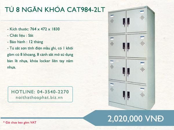 Tủ 8 ngăn khóa CAT984-2LT – tủ Locker
