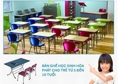Bàn ghế học sinh Hòa Phát cho trẻ từ 5 đến 10 tuổi