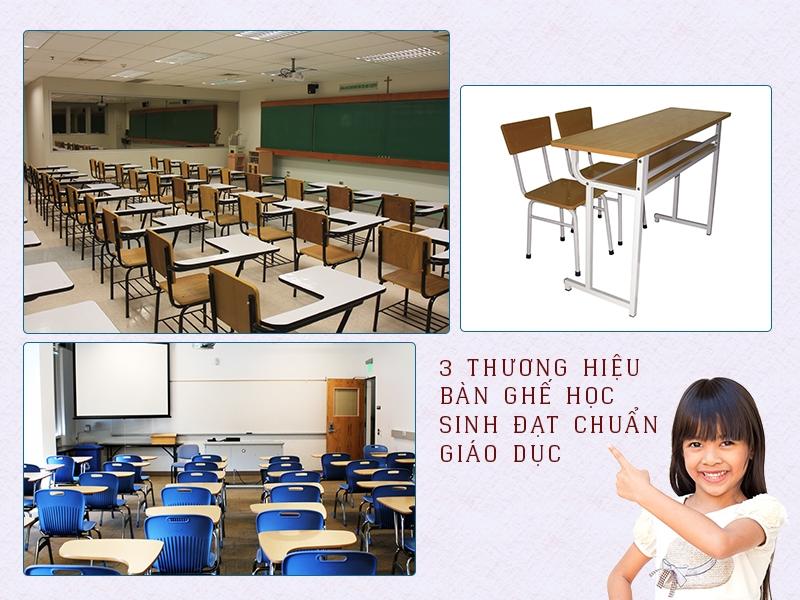 3 thương hiệu bàn ghế học sinh đạt chuẩn giáo dục