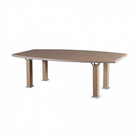 Bàn họp Hòa PHát HRH1810H1 mẫu bàn họp ghép hình Oval màu vân gỗ