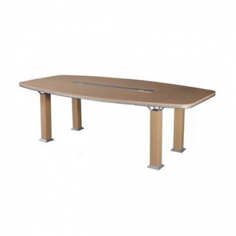 Bàn họp Hòa Phát HRH1810H2 có kiểu dáng mặt bàn hình Oval, chân hộp vuông