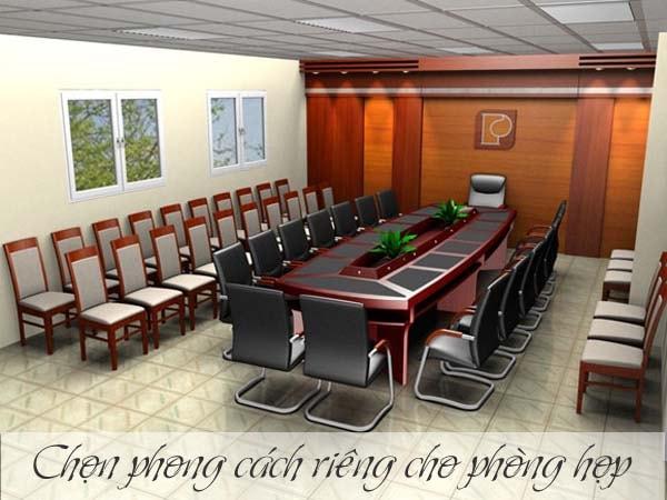 Phòng họp với phong cách hỗn hợp
