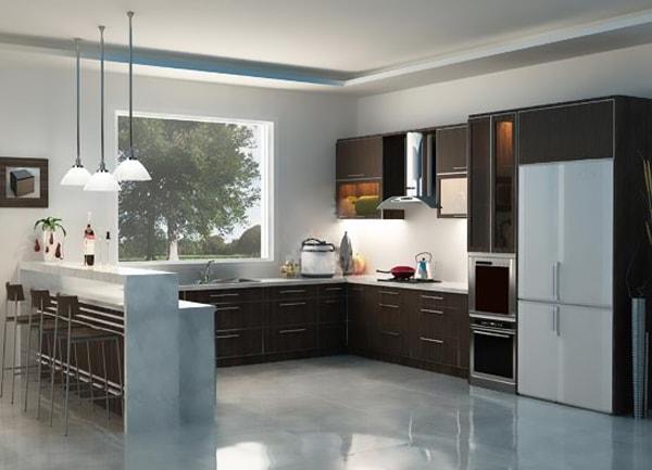 Lựa chọn tủ bếp theo kiểu dáng