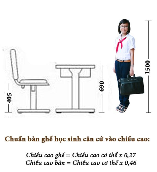"""Chọn kiểu bàn ghế có kích thước """"chuẩn"""""""