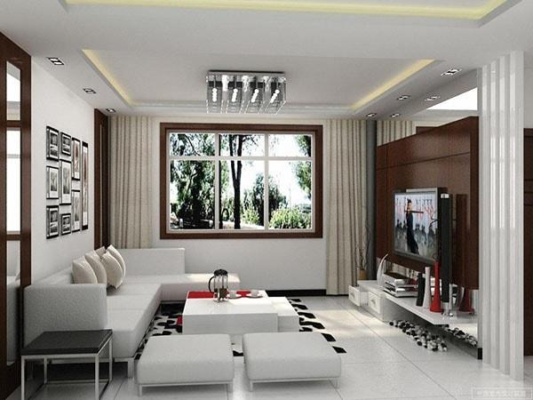 Sofa hình chữ U, L tăng sức chứa cho phòng khách