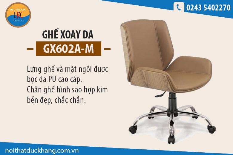Ghế xoay da GX602A-M