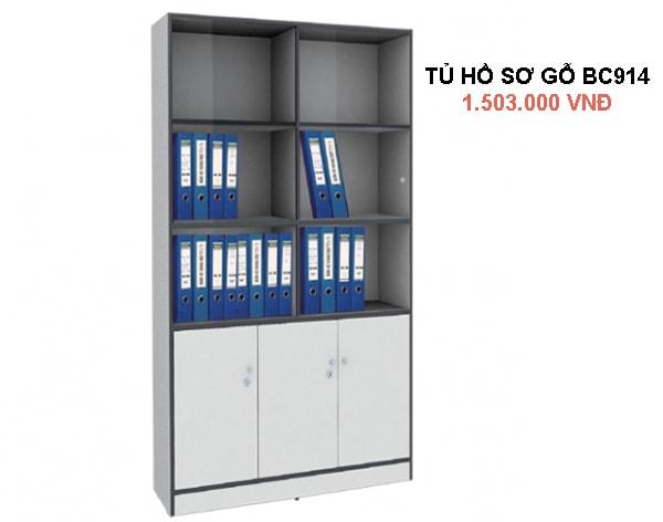 Tủ tài liệu gỗ Hòa Phát BC914