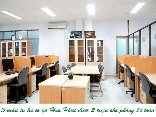 3 mẫu tủ hồ sơ gỗ Hòa Phát dưới 2 triệu cho phòng kế toán