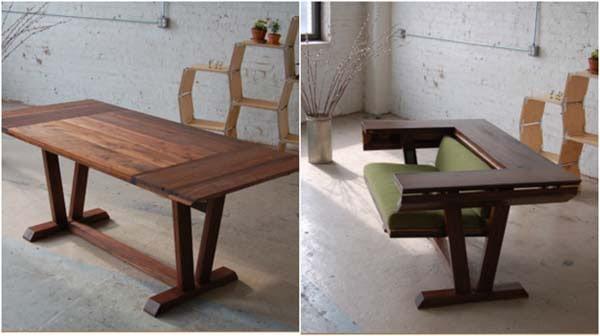 Một chiếc bàn có thể làm ghế khi có nhu cầu