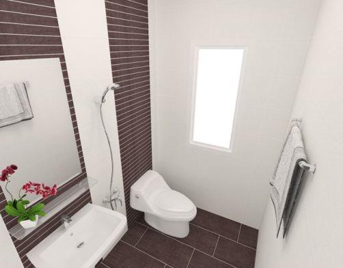 Mẫu nhà vệ sinh nhỏ hẹp