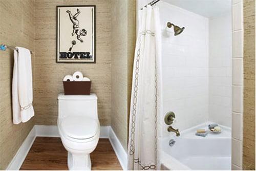 Bố trí các thiết bị trong nhà vệ sinh diện tích nhỏ