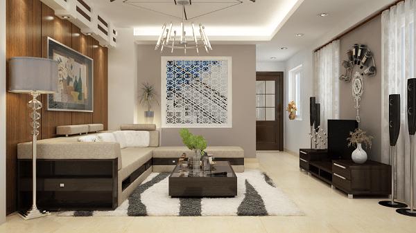 Không gian phòng khách bố trí nội thất