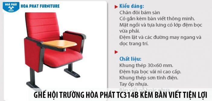 Ghế hội trường Hòa Phát TC314B kèm bàn viết tiện lợi, giá tốt 1