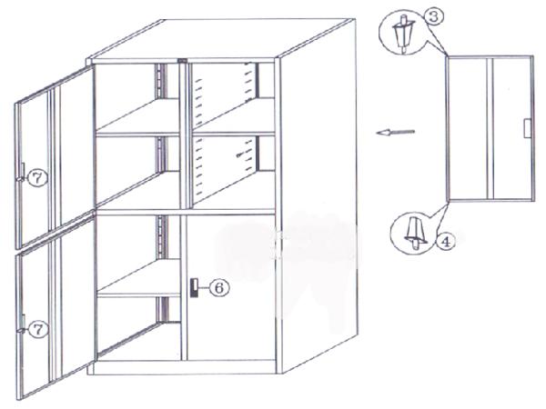Tủ 4 cánh mở 4 khóa Hòa Phát TU09K4 được làm từ sắt sơn tĩnh điện