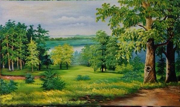 Treo tranh rừng cây giúp nam Kỷ Tỵ 1989 tăng vận khí.