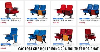 các loại ghế hội trường của nội thất hòa phát
