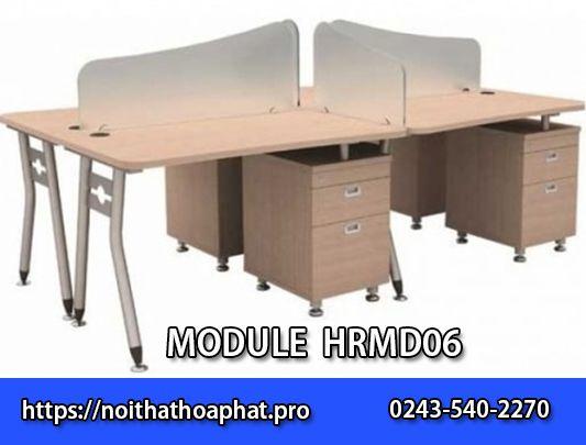 Mẫu module bàn làm việc 4 chỗHRMD06