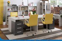 Bàn làm việc 4 chỗ Hòa Phát - nội thất thông minh cho văn phòng