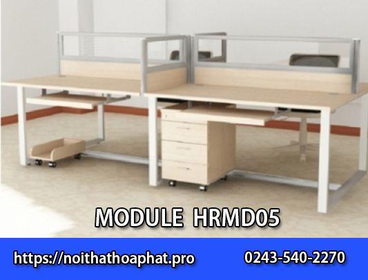 BànHRMD05 - bàn làm việc nhóm 4 người ngồi