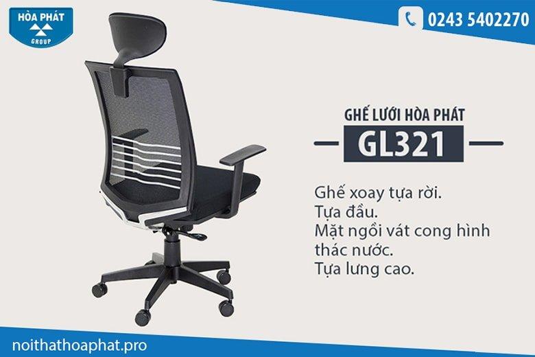 Ghế xoay lưới Hòa Phát GL321