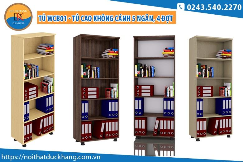 Tủ WCB-01 - Tủ cao không cánh 5 ngăn, 4 đợt: Giá 1.213.000 đồng