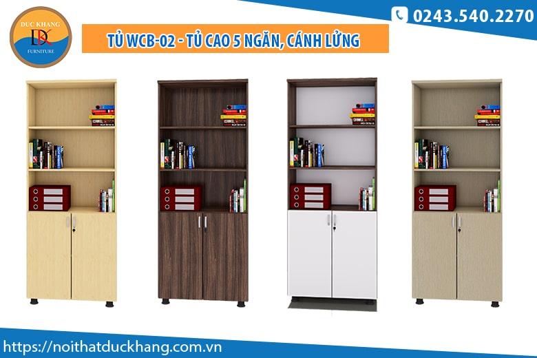 Tủ WCB02 - Tủ cao 5 ngăn, cánh lửng có khóa: Giá 1.544.000 đồng