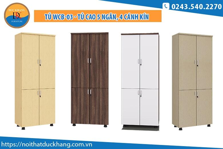 Tủ WCB-03 - Tủ cao 5 ngăn, 4 cánh kín: Giá 1.885.000 đồng