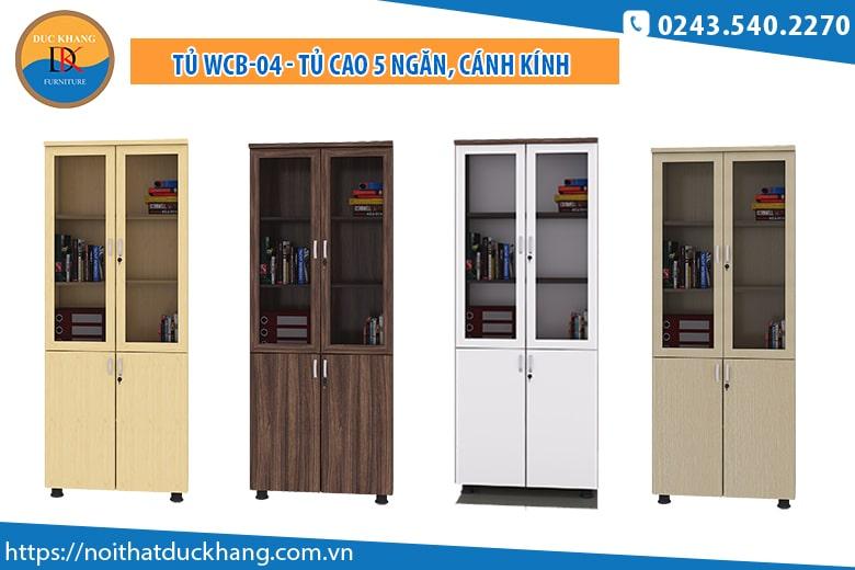 Tủ WCB-04 - Tủ cao 5 ngăn, cánh kính: Giá 1.985.000 đồng