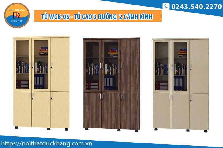 Tủ WCB-05 - Tủ cao 3 buồng kết hợp 2 cánh kính: Giá 2.867.000 đồng