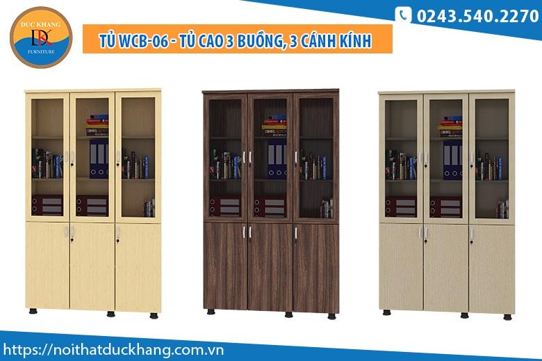Tủ WCB-06 - Tủ cao 3 buồng, 3 cánh kính: Giá 2.922.000 đồng