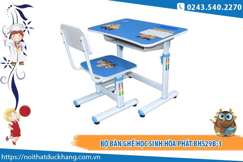 Bộ bàn ghế học sinh Hòa Phát BHS29B-3