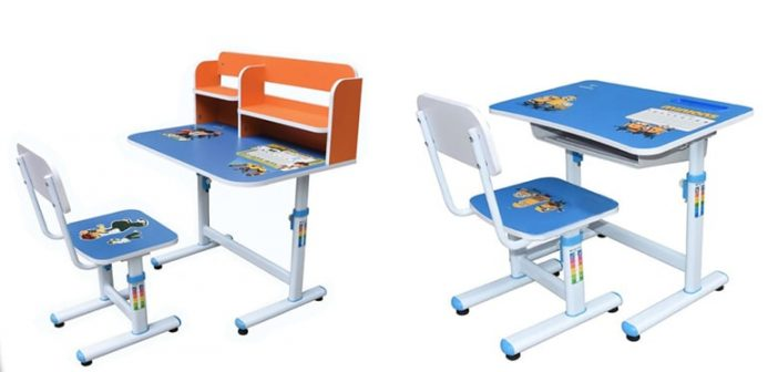 2 mẫu bàn học lớp 1 Hòa Phát cho bé trai năng động