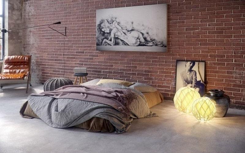 Thiết kế phòng ngủ không cần giường với các phụ kiện độc đáo
