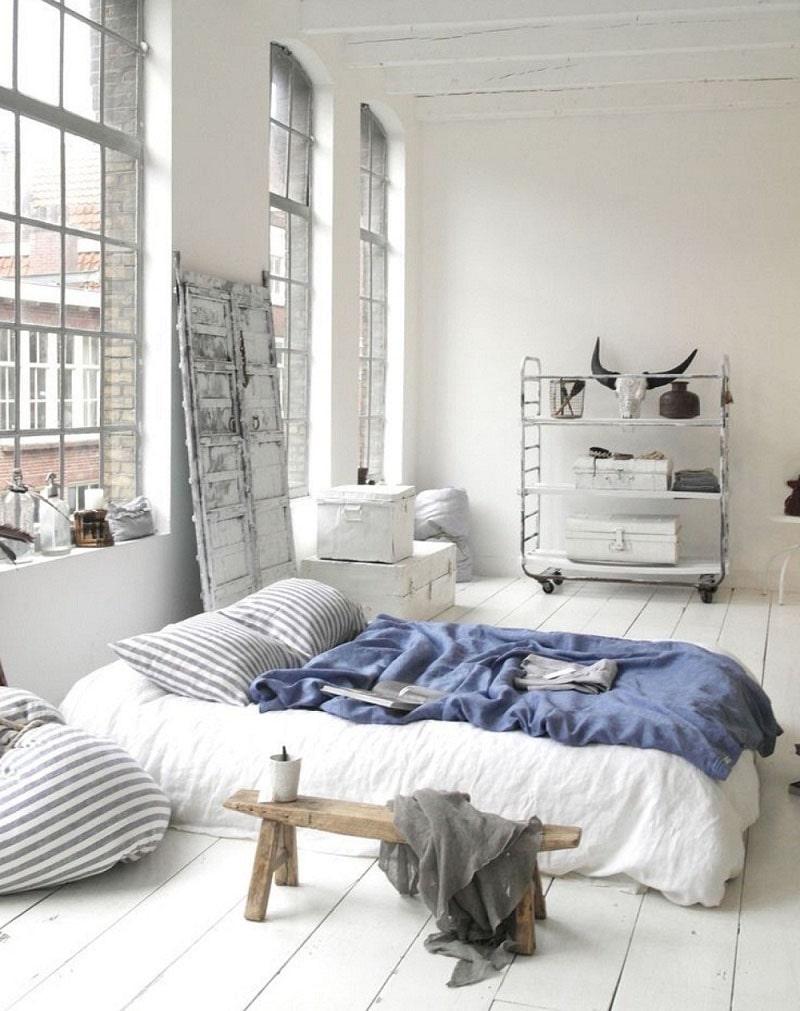 Trang trí phòng ngủ không cần giường kiểu Hàn Quốc