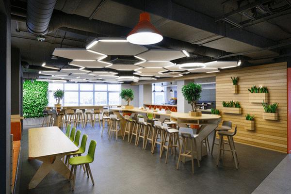 Thiết kế văn phòng 40m2 theo phong cách mở