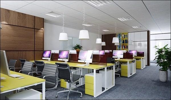 Sử dụng màu sắc trong thiết kế nội thất văn phòng 40m2