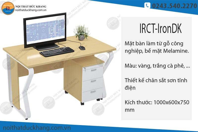 5 mẫu bàn làm việc 1m chân sắt đẹp cho văn phòng diện tích nhỏ