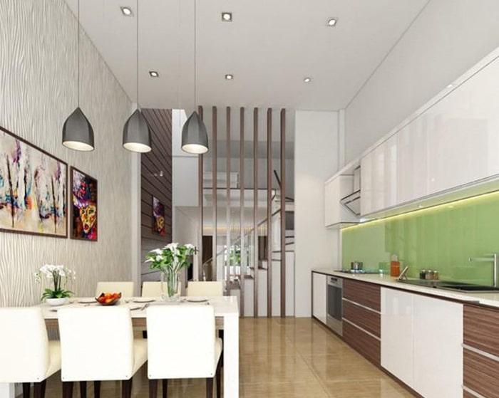 Thiết kế phòng bếp thông phòng ăn