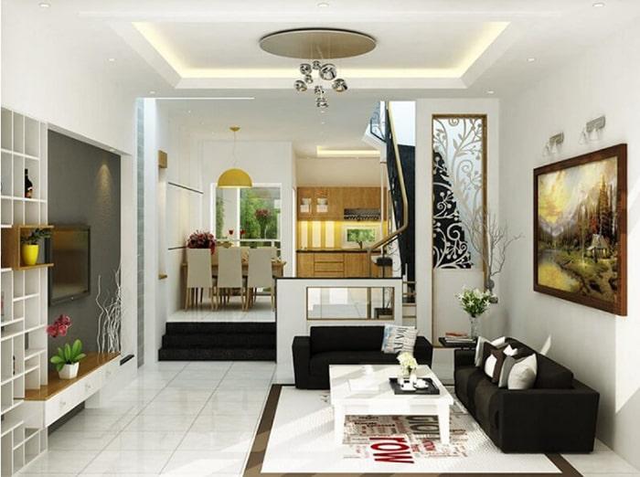 Thiết kế phòng bếp thông phòng khách