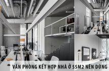 Thiết kế văn phòng kết hợp nhà ở 55m2 nên dùng bàn gì?
